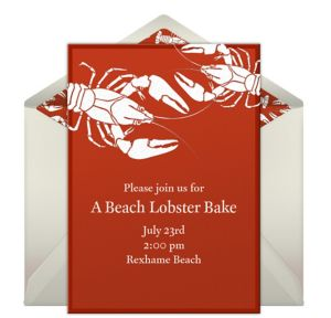 Online Lobsters - Red Invitations