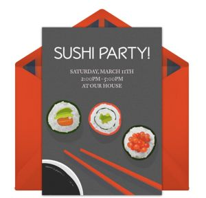 Online Sushi Dinner Invitations