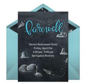 Online Chalkboard Farewell Invitations