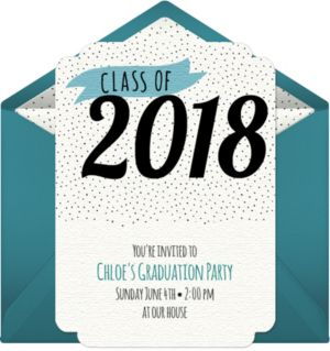 Online Class of 2017 Dots Invitations