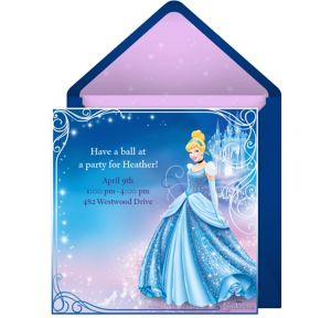 Online Cinderella Invitations