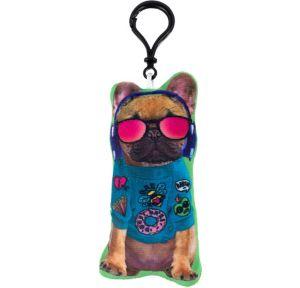Clip-On Trendy Dog Plush