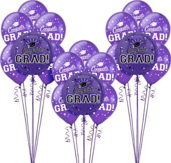 Purple Graduation Balloon Kit