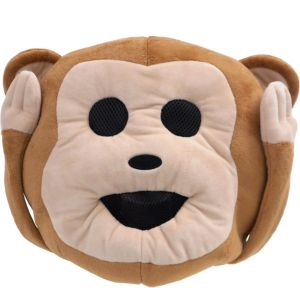 Oversized Hear-No-Evil Monkey Icon Mask