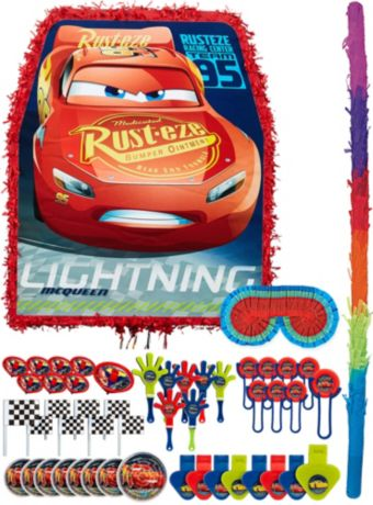 Lightning McQueen Pinata Kit with Favors - Cars 3