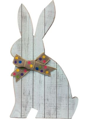 Giant Rustic Easter Bunny Sign