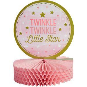 Pink Twinkle Twinkle Little Star Honeycomb Centerpiece