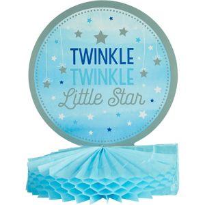 Blue Twinkle Twinkle Little Star Honeycomb Centerpiece