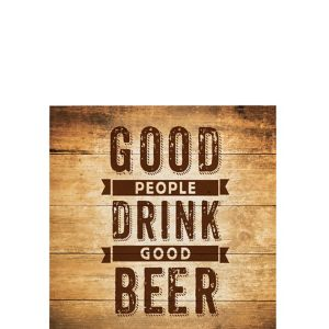 Drink Good Beer Beverage Napkins 16ct