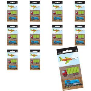 Jumbo Trucks, Planes & Trains Stickers 24ct