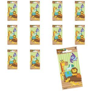 Jumbo Jungle Animals Stickers 24ct