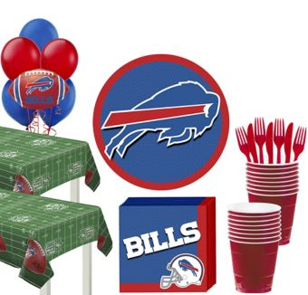 Buffalo Bills Deluxe Party kit for 36 Guests