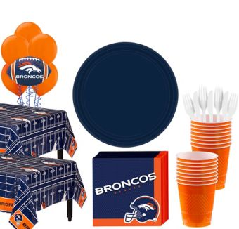 Denver Broncos Deluxe Party kit for 36 Guests