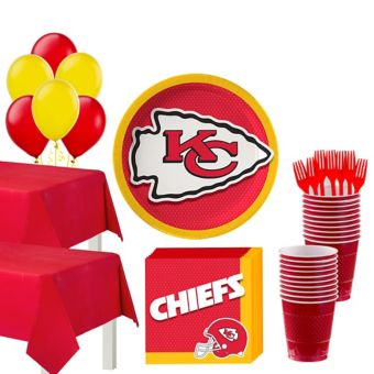 Kansas City Chiefs Deluxe Party kit for 36 Guests