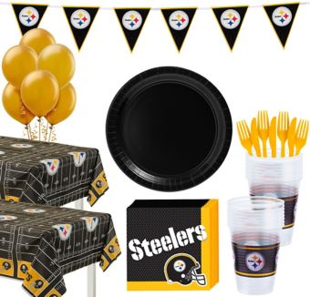 Pittsburgh Steelers Deluxe Party kit for 36 Guests