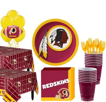 Washington Redskins Deluxe Party kit for 36 Guests