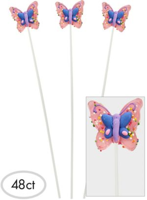 Butterfly Sparklepops Lollipops 48ct