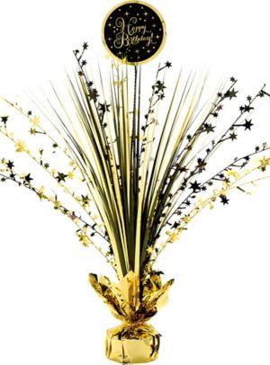 Gold Birthday Spray Centerpiece