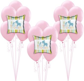 Happy Jungle Girl Baby Shower Balloon Kit