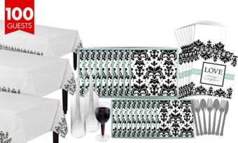 Always & Forever Bridal Shower Tableware Kit for 100 Guests