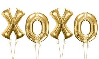 Giant Gold XOXO Letter Balloon Kit