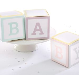 Baby Blocks Favor Boxes 24ct