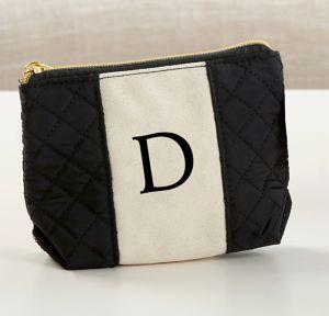 Black & White Monogram D Makeup Bag