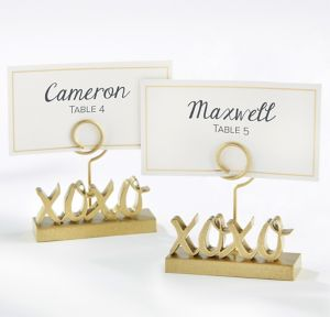 XOXO Gold Place Card Holders 6ct