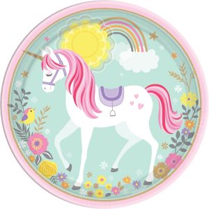 Magical Unicorn Lunch Plates 8ct