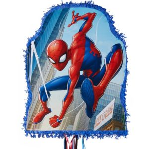 Pull String Blue Spider-Man Pinata