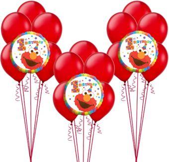 1st Birthday Elmo Balloon Kit