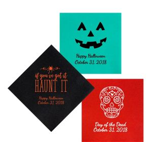 Personalized Halloween Premium Lunch Napkins