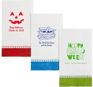 Personalized Halloween Bordered Guest Towels