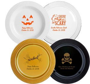 Personalized Halloween Premium Plastic Dinner Plates