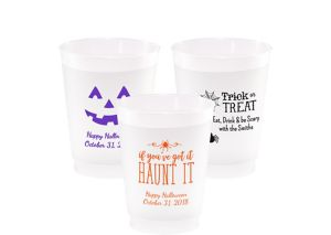 Personalized Halloween Frosted Plastic Shatterproof Cups 10oz