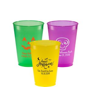 Personalized Halloween Plastic Shatterproof Cups 12oz