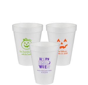 Personalized Halloween Foam Cups 12oz