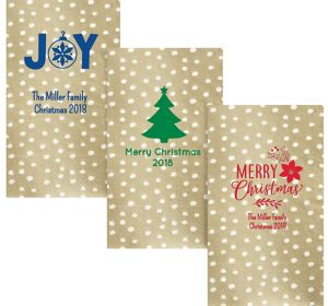 Personalized Christmas Small Dots Guest Towels
