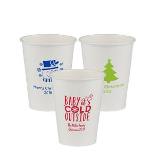 Personalized Christmas Paper Cups 12oz