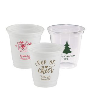 Personalized Christmas Plastic Party Cups 12oz
