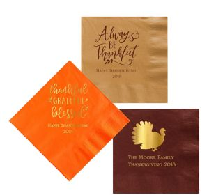 Personalized Thanksgiving Lunch Napkins