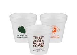 Personalized Thanksgiving Foam Cups 4oz