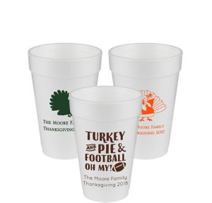 Personalized Thanksgiving Foam Cups 16oz