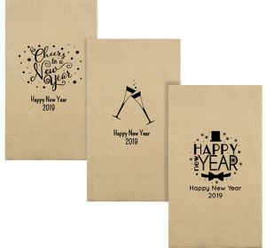 Personalized New Year's Eco-Friendly Guest Towels
