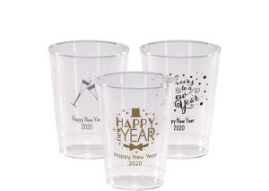 Personalized New Year's Hard Plastic Cups 10oz