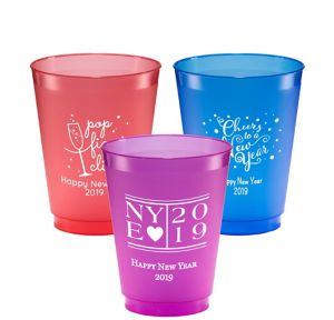 Personalized New Year's Plastic Shatterproof Cups 16oz