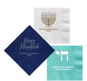 Personalized Hanukkah Lunch Napkins