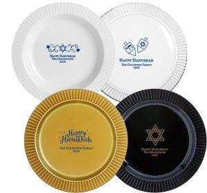 Personalized Hanukkah Premium Plastic Dinner Plates