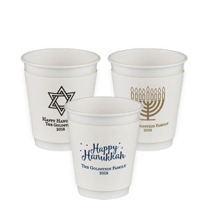 Personalized Hanukkah Insulated Paper Cups 12oz
