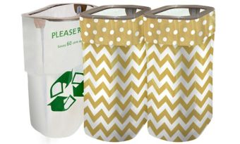 Gold Polka Dot & Chevron Clean-Up Kit